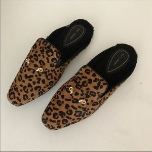 681e5b2d4c65 Derek Lam Shoes | Genuine Leopard Print Leather Slippers | Poshmark
